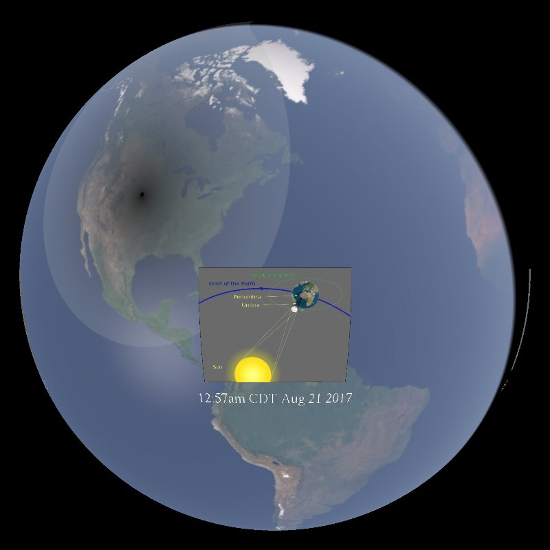 Solar Eclipse Simulation (NOAA) - August 21, 2017 thumbnail