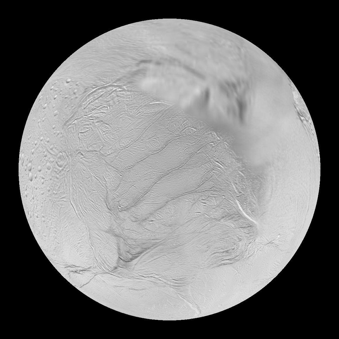 Enceladus Saturn S Moon Dataset Science On A Sphere
