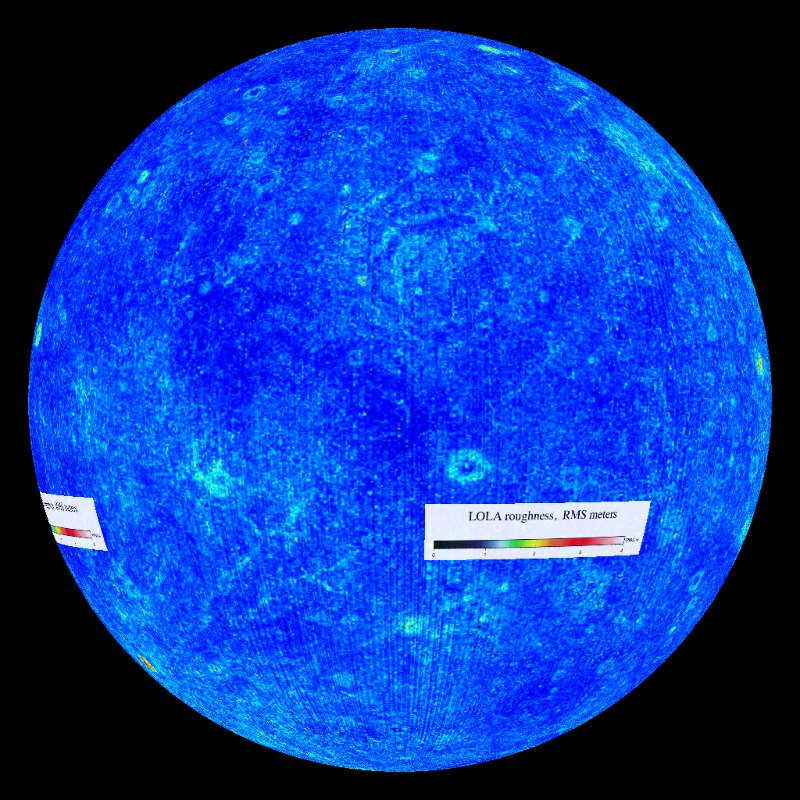 Moon: Surface Roughness Dataset | Science On a Sphere