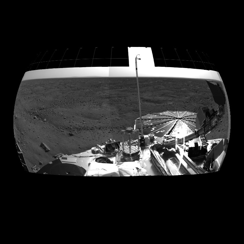 Panoramic View of Mars from Phoenix Lander - 2008 thumbnail