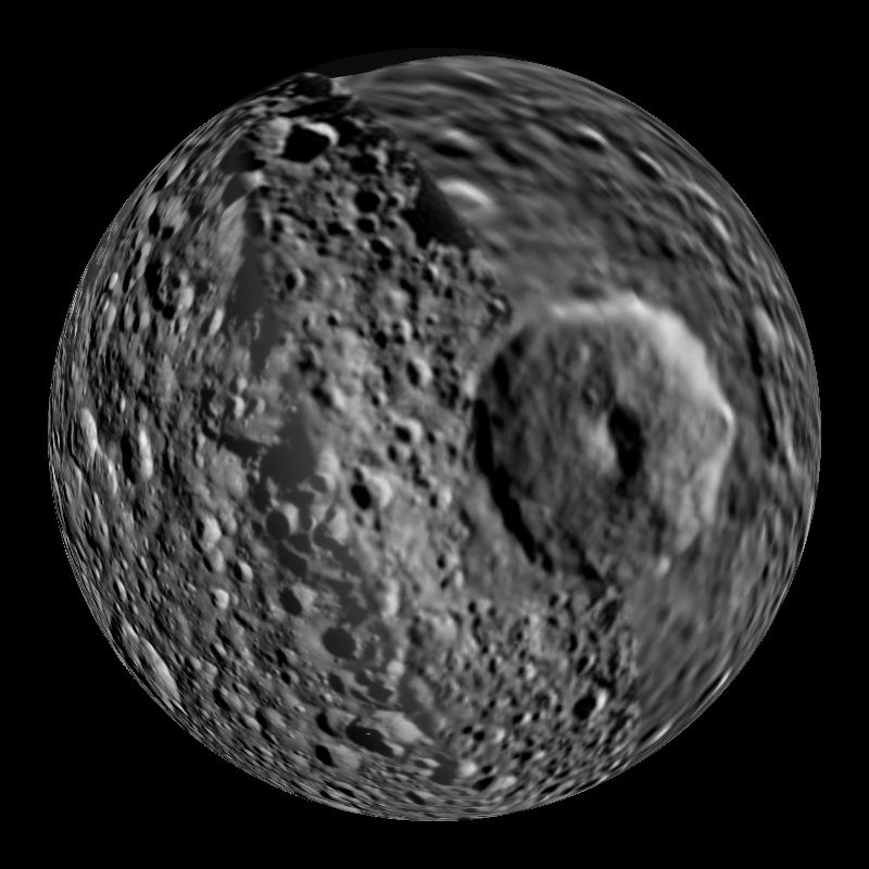 Mimas Saturn S Moon Dataset Science On A Sphere