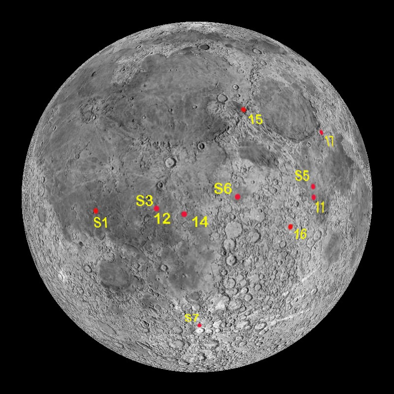 Moon Slideshow of Landing Sites and Pictures Dataset  Science On