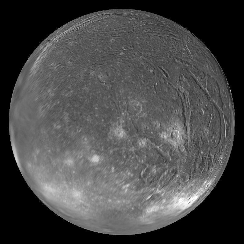 Ariel: Uranus' moon Dataset | Science On a Sphere