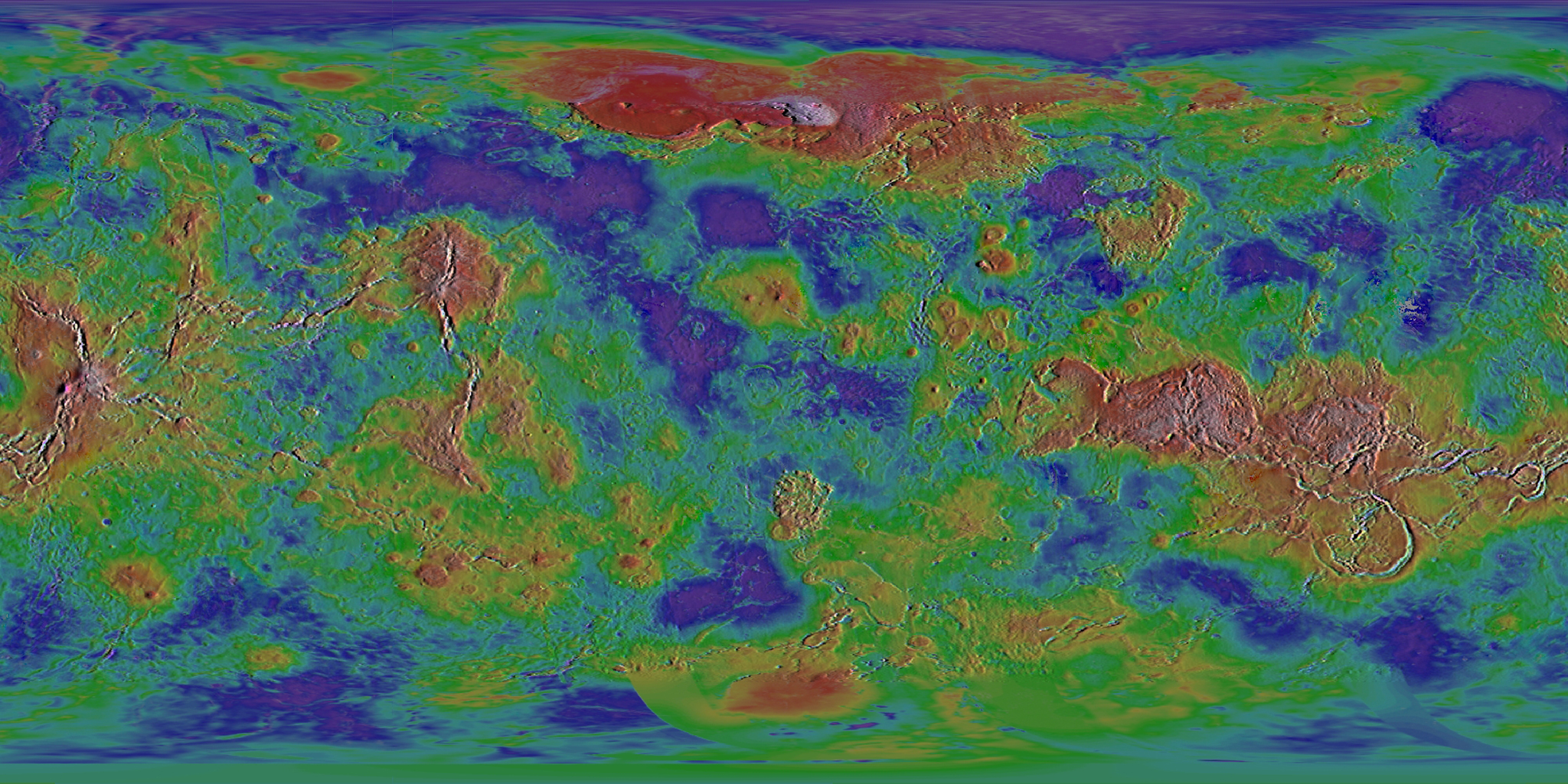 Venus: Shaded Relief Dataset | Science On a Sphere