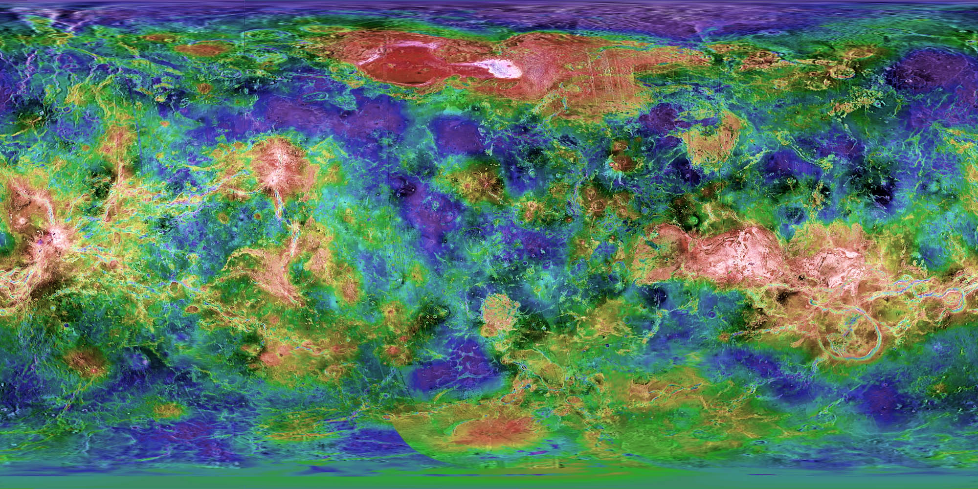 Venus: Topography Dataset | Science On a Sphere