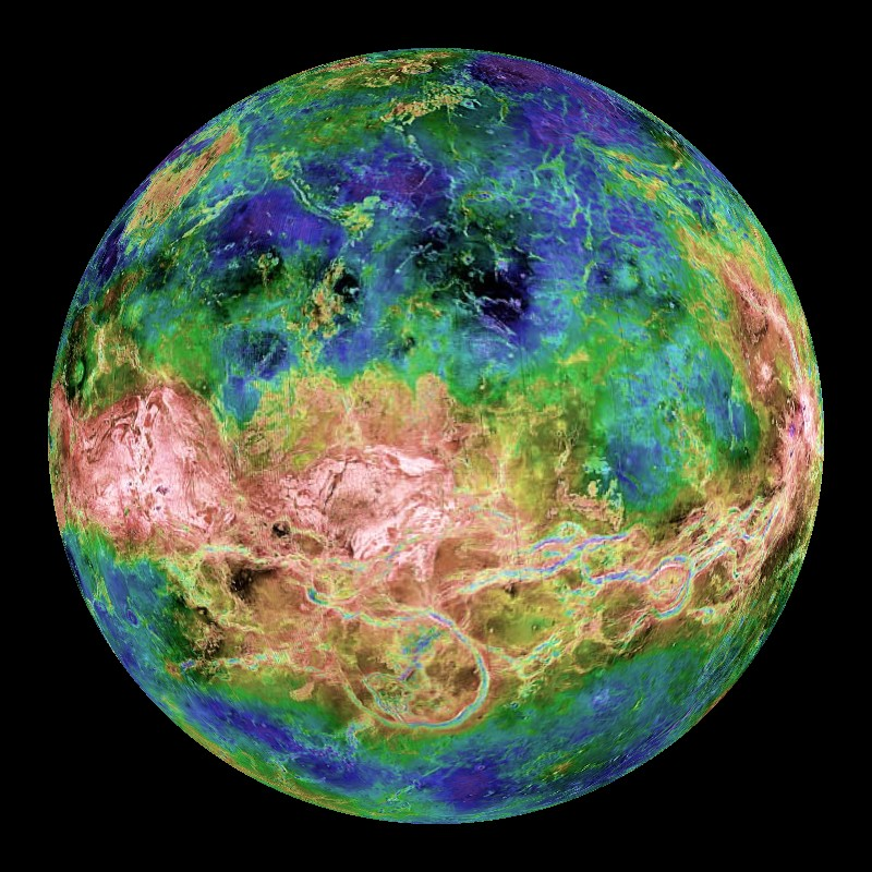 Venus Topography Dataset