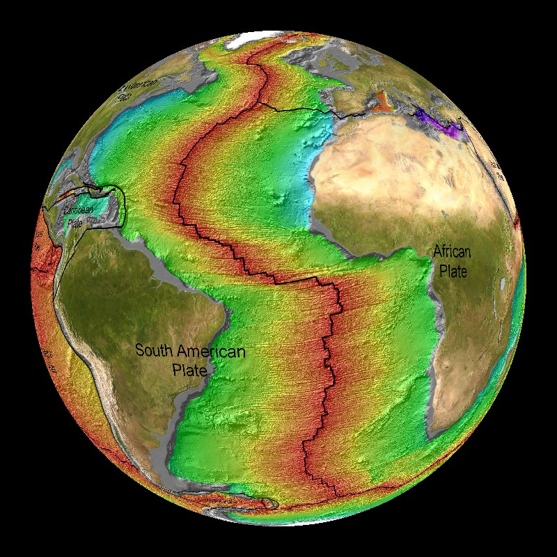 Age of the seafloor vegetation dataset science on a sphere for Ocean floor description