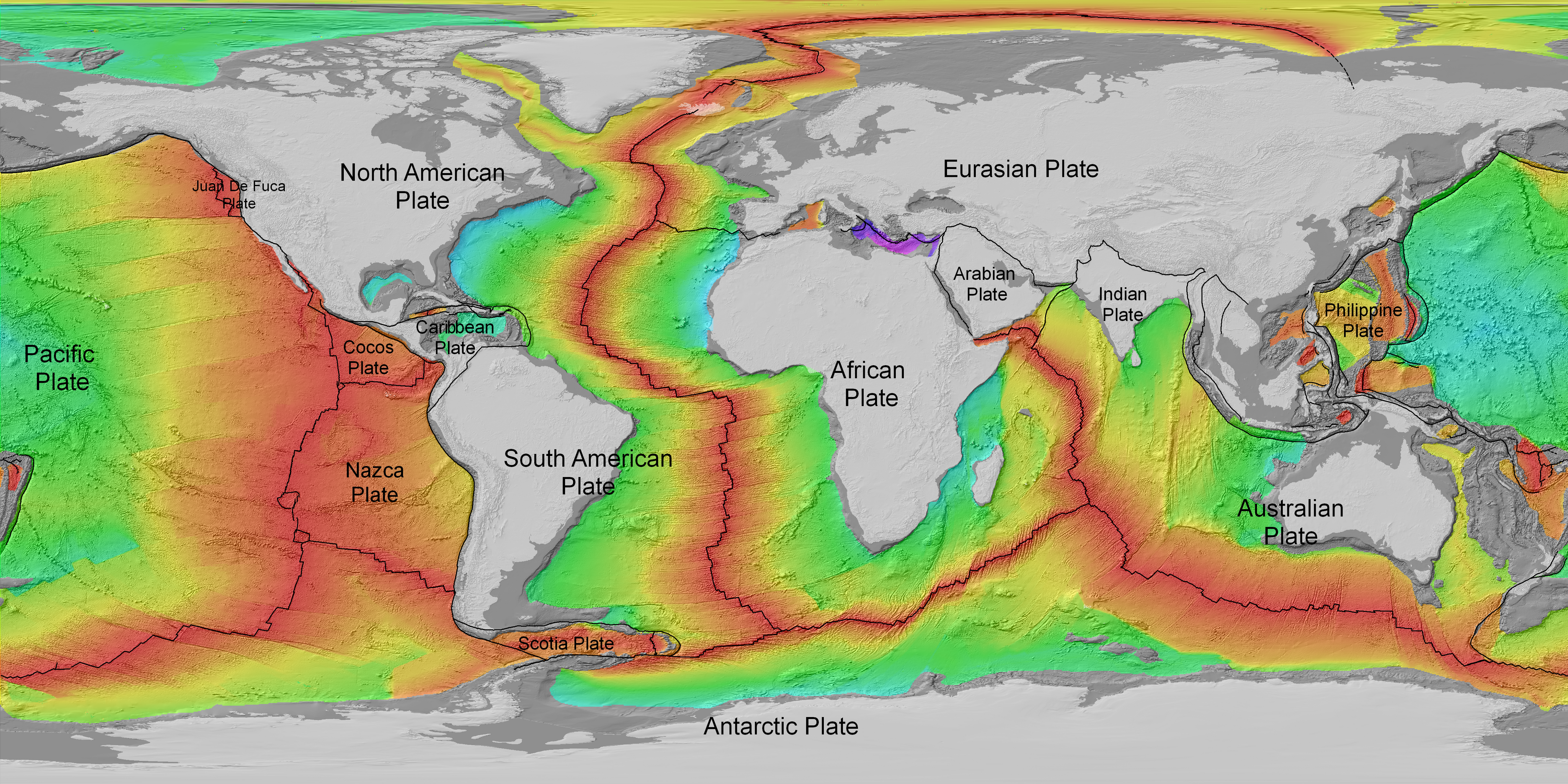 Age of the Seafloor (topography) Dataset | Science On a Sphere