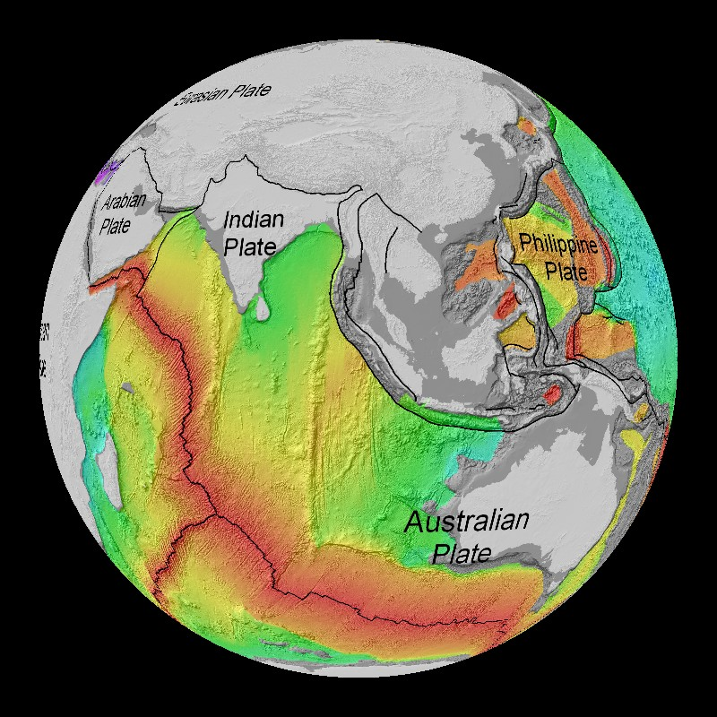 Age of the seafloor topography dataset science on a sphere for Ocean floor description