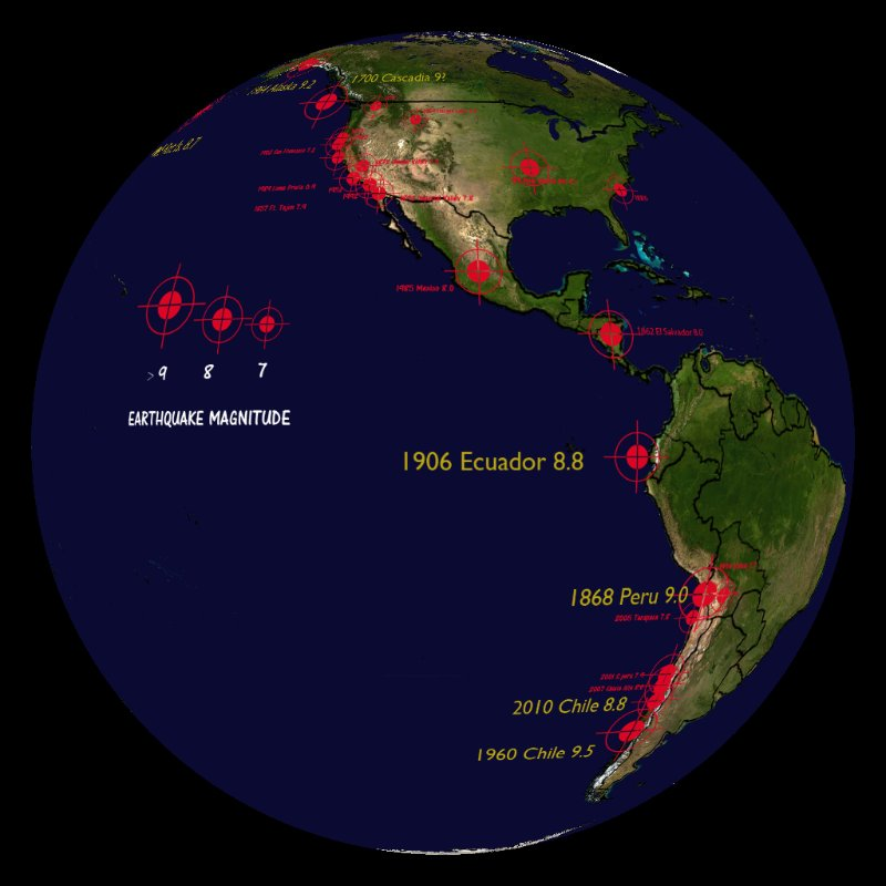Earthquakes historical top 10 through 2011 dataset for Best place to be in an earthquake