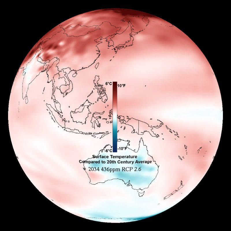 Climate Model: Temperature Change (RCP 2.6) - 2006 - 2100 thumbnail