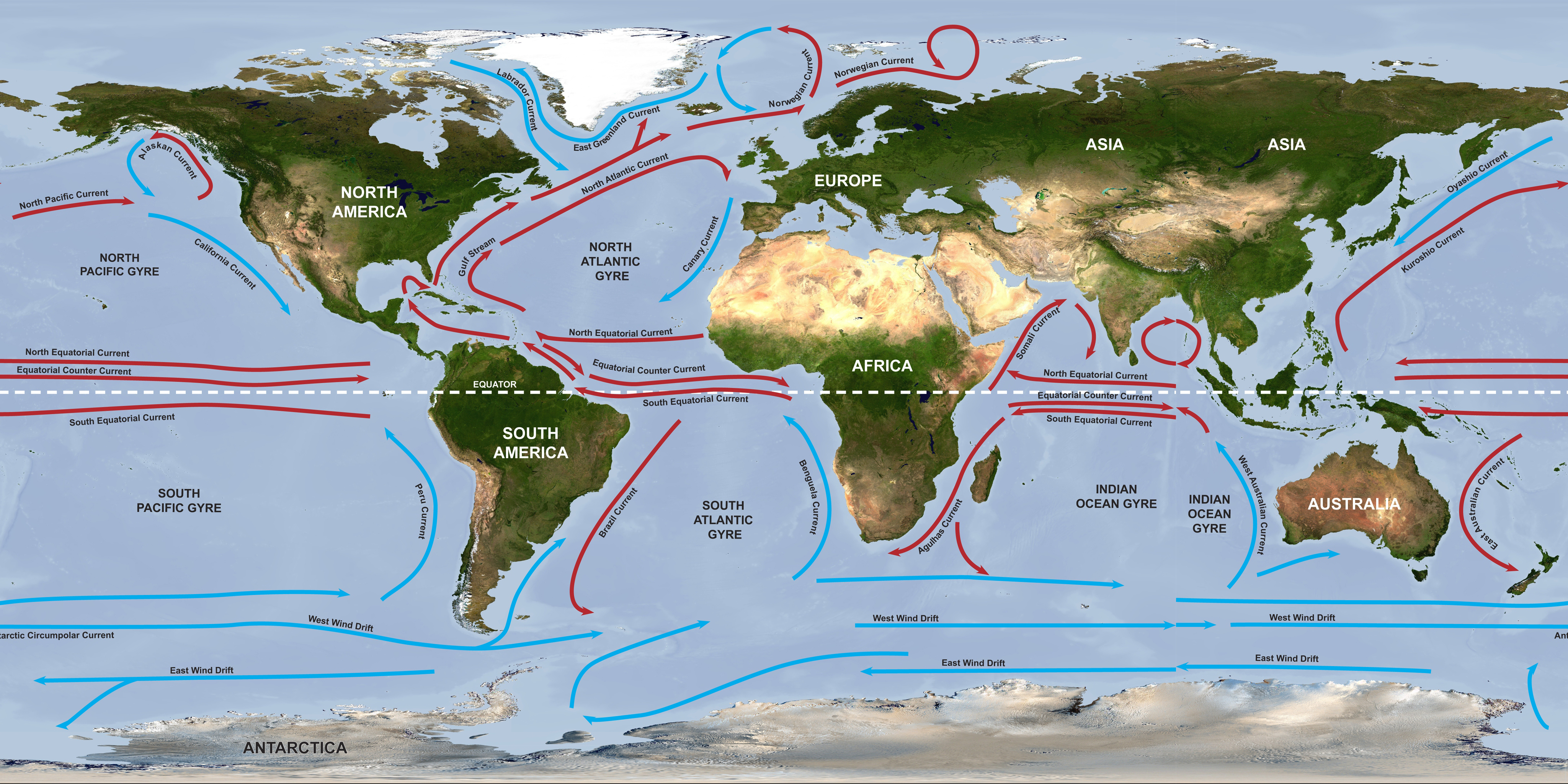 Ocean circulation labeled currents dataset science on a sphere interactive sphere gumiabroncs Choice Image