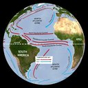 Ocean Circulation (labeled currents)