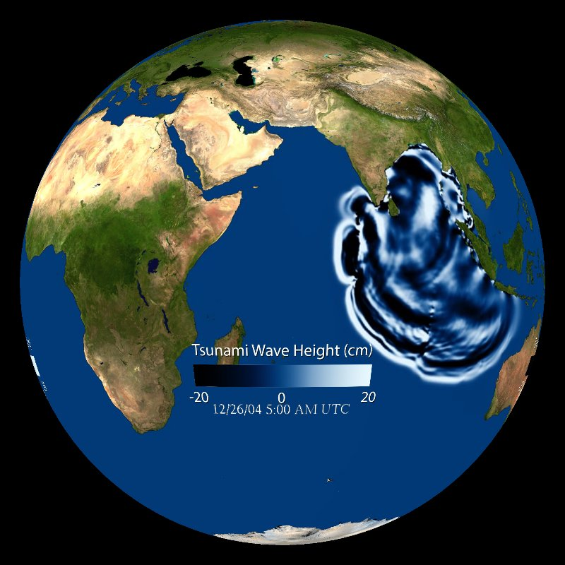 Tsunami Wave Propagation: Indian Ocean - December 26, 2004 thumbnail