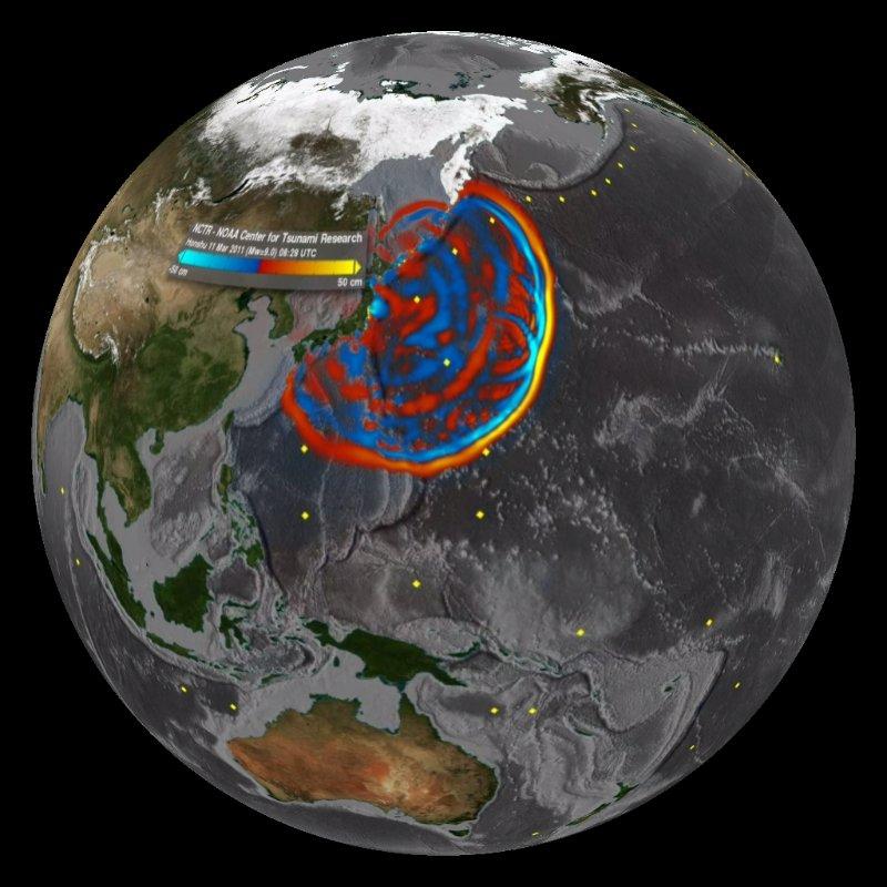 Japan Tsunami: Wave Propagation - March 11, 2011 Dataset ... Pacific Ocean Waves