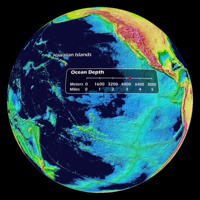 Bw color prints science on a sphere datasets for Ocean floor description