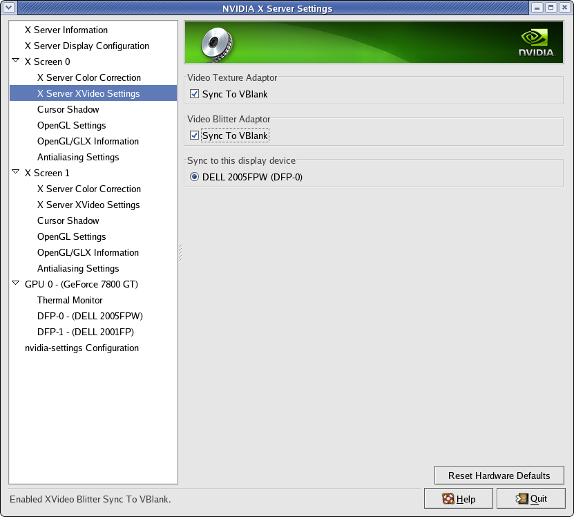 Nvidia Setting: Five PC   Science On a Sphere